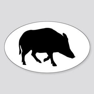 Wild pig - boar Sticker (Oval)